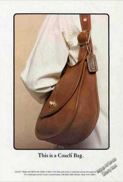 """This Is a Coach Bag"" Collectible (1978)"