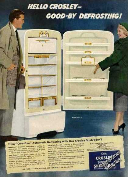 Crosley Shelvador Refrigerator Good-by Defrost (1951)