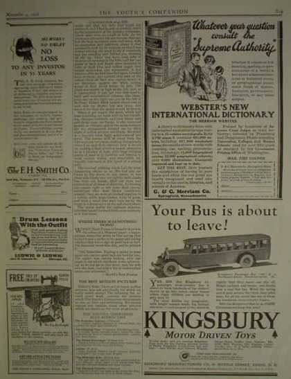 Kingsbury Motor driven toys Bus About to leave (1926)