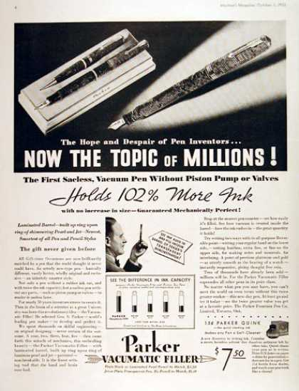 Parker Fountain Pen #2 (1933)