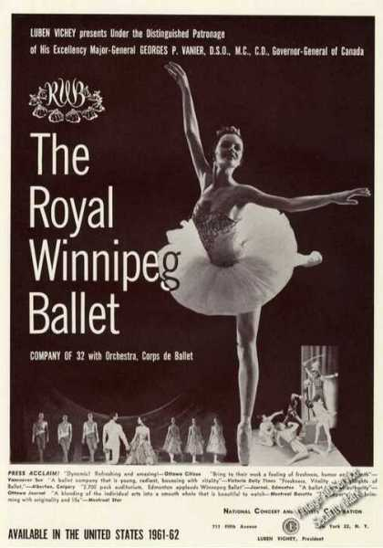Royal Winnipeg Ballet Photos Trade (1961)