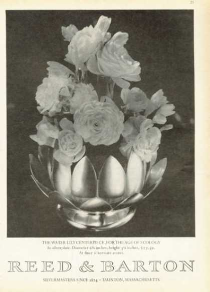 Reed Barton Silverplate Water Lily Centerpiece (1972)