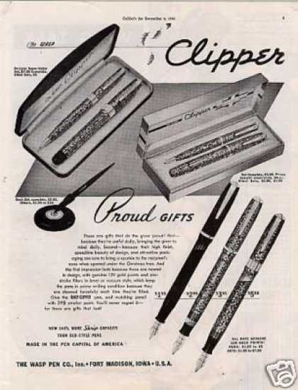Wasp Clipper Pens (1941)