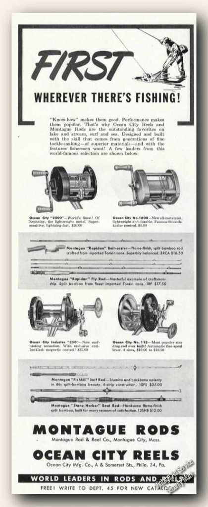 Montague Rods Ma Ocean City Reels (1949)