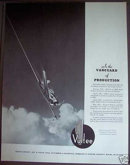 Vultee Aircraft Inc. Airplanes (1941)