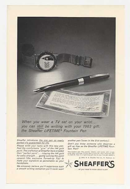 Sheaffer Lifetime Fountain Pen TV Watch Photo (1963)