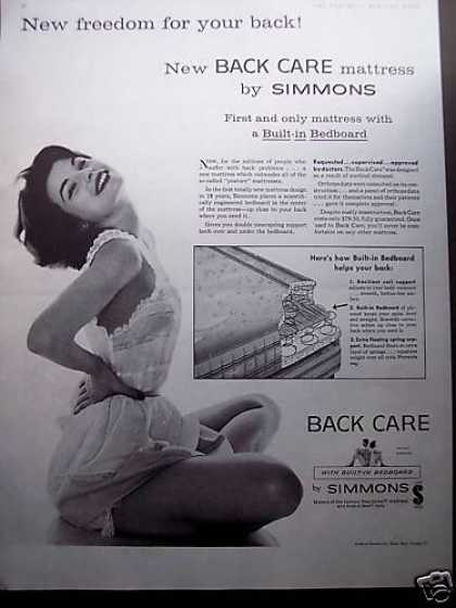 Pretty Girl Photo Simmons Back Care Mattress (1958)