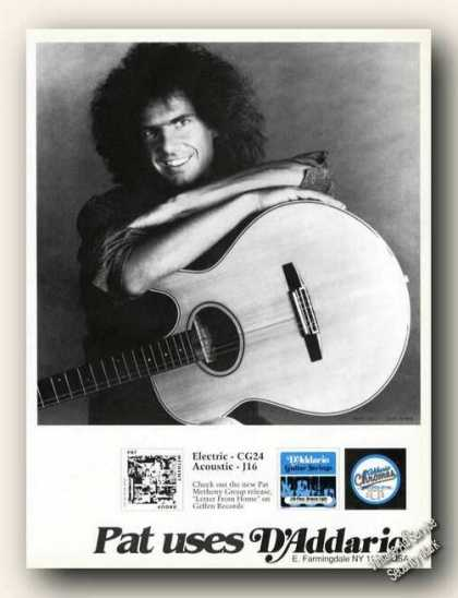 Pat Metheny Photo D'dario Promo (1989)