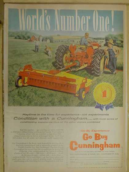 Cunningham Haytime is the time for experience. Worlds number one (1959)