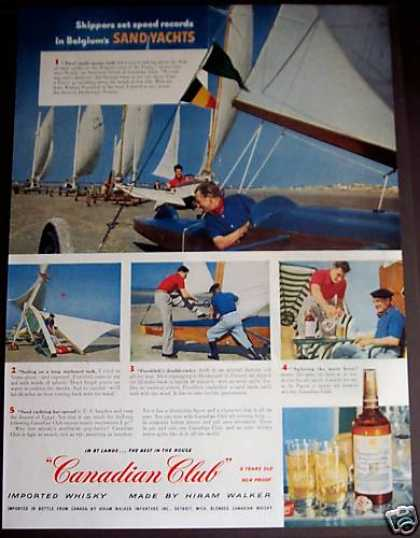 Canadian Club Whisky Sand Yachts (1954)