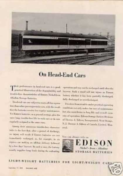 Edison Ad Chesapeake & Ohio Baggage Car #307 (1951)