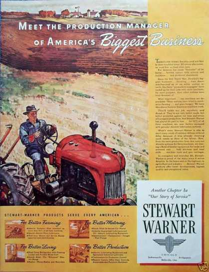 Stewart Warner Better Farming Tractor Field (1941)