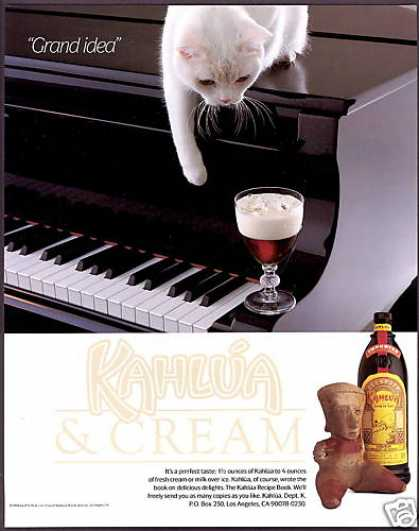 Kahlua Liqueur White Cat Grand Piano (1990)