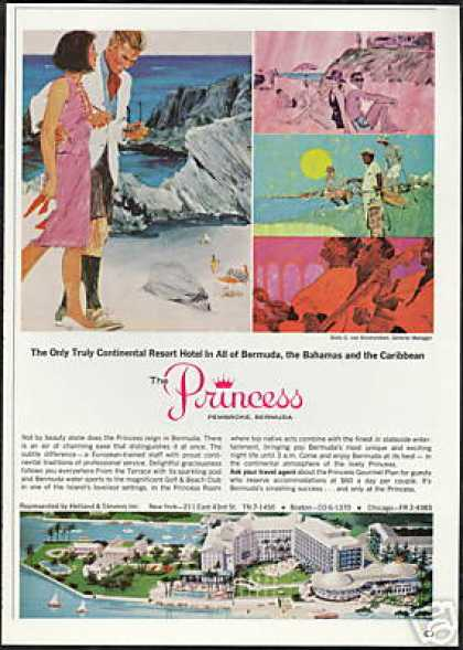 The Princess Hotel Pembroke Bermuda Vintage (1966)