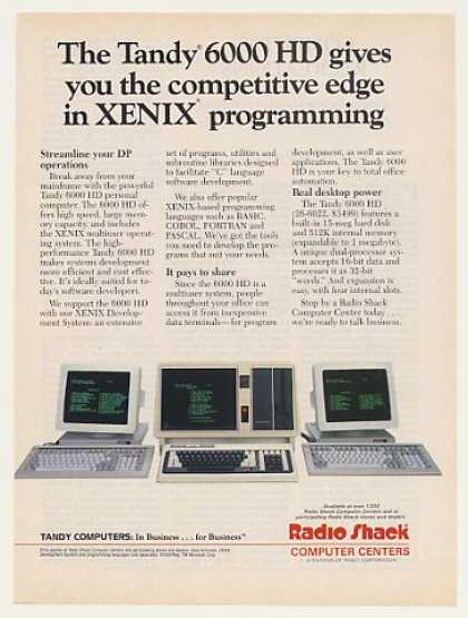 Radio Shack Tandy 6000 HD XENIX Computer (1987)
