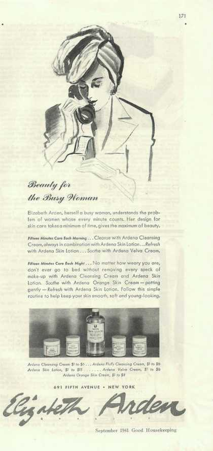 Elizabeth Arden Beauty for Busy Woman (1941)