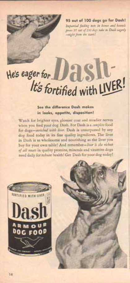 Dash Armour Dog Food – Boxer (1949)