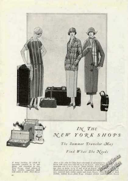 """In the New York Shops"" Fashion Drawings & Article (1924)"