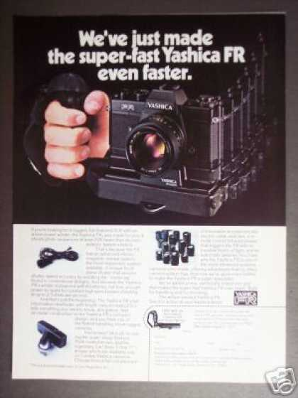 Yashica Fr Camera W Winder & Zeiss Lens (1977)