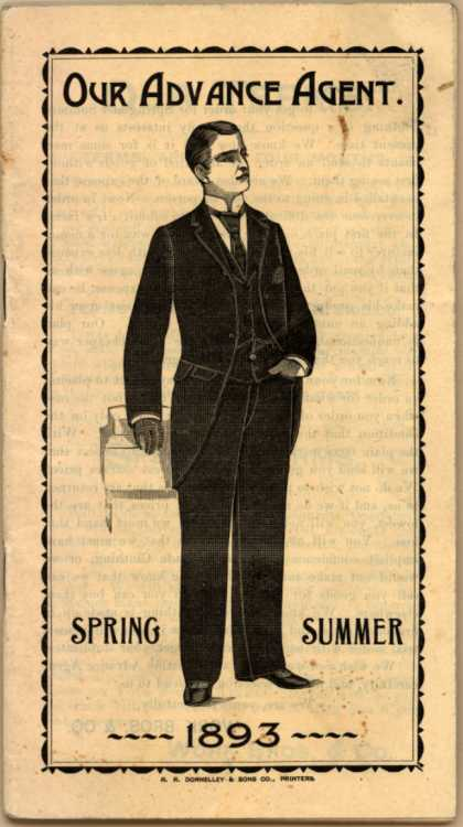 Work Bros. & Co.'s men's suits – Our Advance Agent (1893)