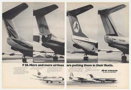 VFW Fokker F28 Airlines Jet Tails Photo 2-Page (1975)