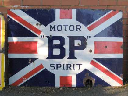 BP Motor Spirit Garage Sign