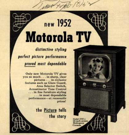 Motorola's Model 21K1 – New 1952 Motorola TV (1952)