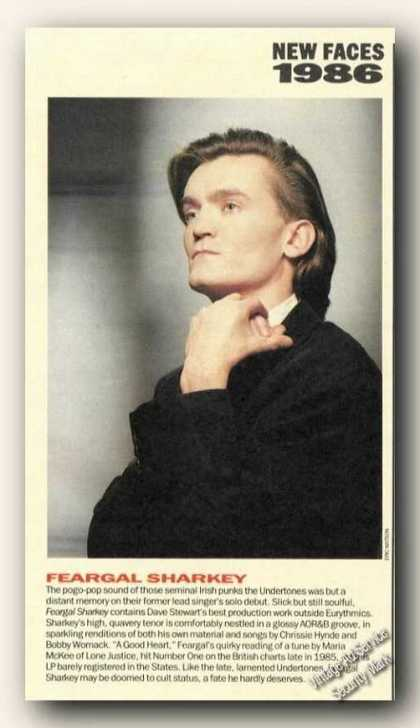 Feargal Sharkey Magazine Picture Print Feature (1986)