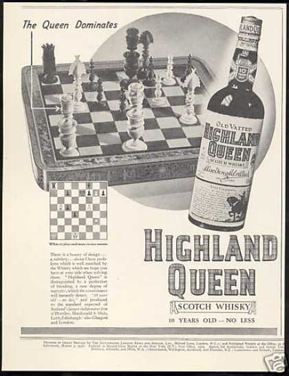 Highland Queen Scotch Chess Game Pieces (1936)