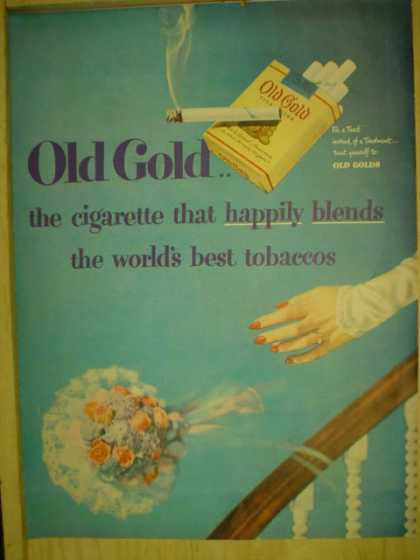 Old Gold Cigarettes. Wedding theme. (1949)