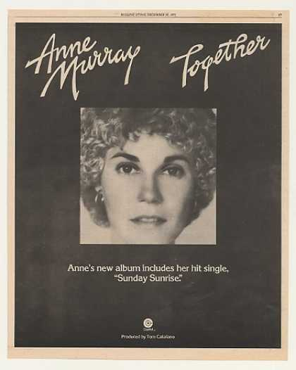 Anne Murray Together Capitol Record Photo (1975)