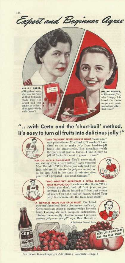Certo Make Delicious Jelly (1941)