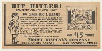 Model Display Hit Hitler Game Change Over (1940)
