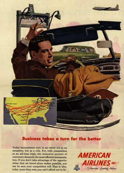 American Airline's Business Travel – Business Takes a Turn for the Better (1954)