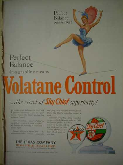 Texaco Skychief gas gasoline (1950)