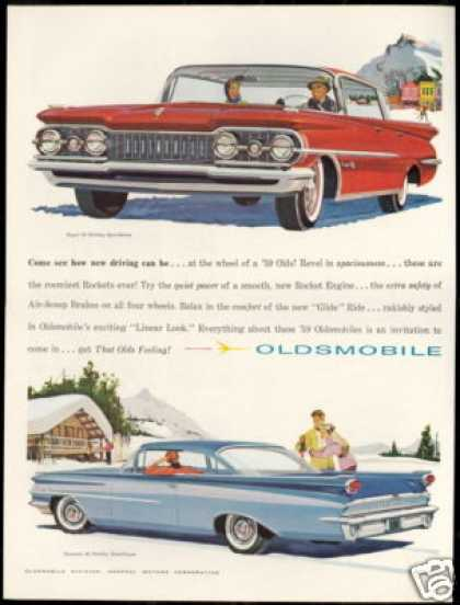Oldsmobile Holiday 4 Dr Sedan & Coupe Car (1959)