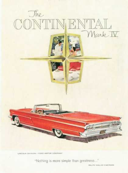 Lincoln Continental Mark Iv Convertible (1959)