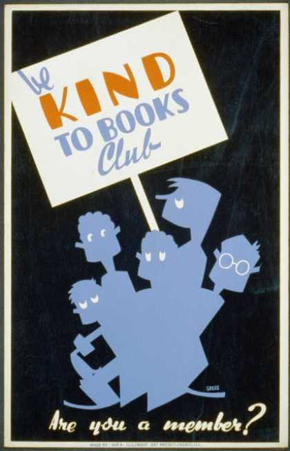 Be kind to books club – Are you a member? / Gregg. (1936)