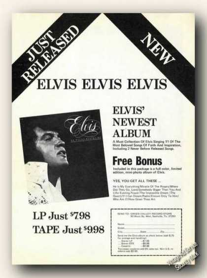 Elvis Presley Photo Songs of Faith Album (1978)