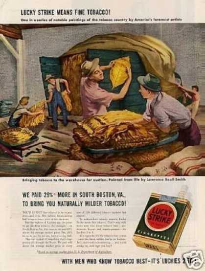 Lucky Strike Cigarettes Ad Lawrence Beall Smith (1942)