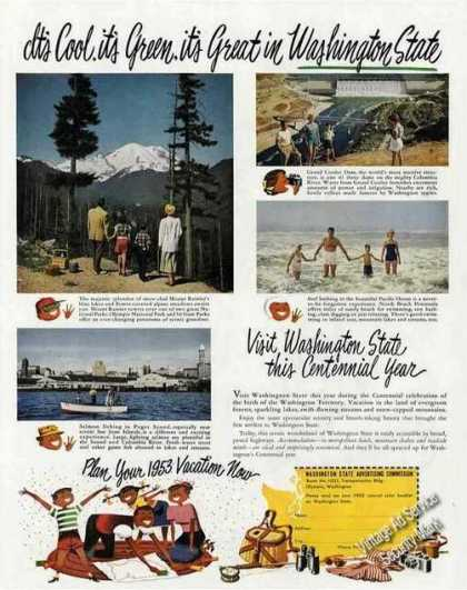 Mt. Ranier/grand Coulee/puget Sound Travel (1953)