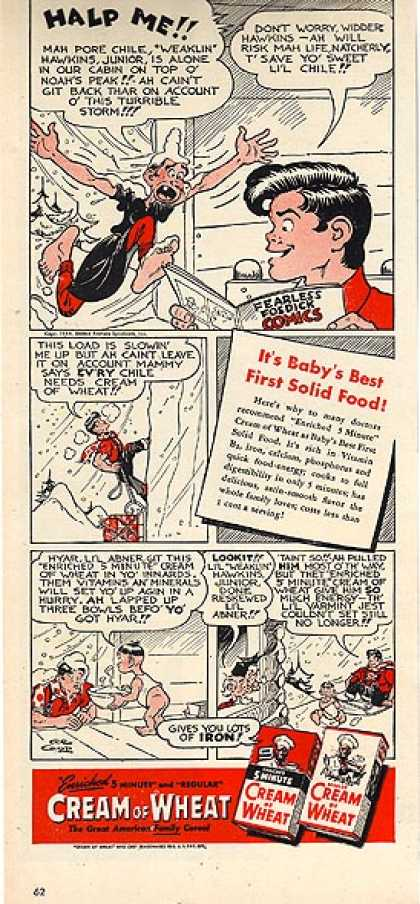 Cream of Wheat's 5-minute and Regular Cereal (1944)