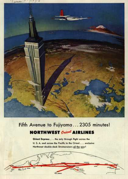 Northwest Airline's Orient Express – Fifth Avenue to Fujiyama... 2305 minutes (1953)