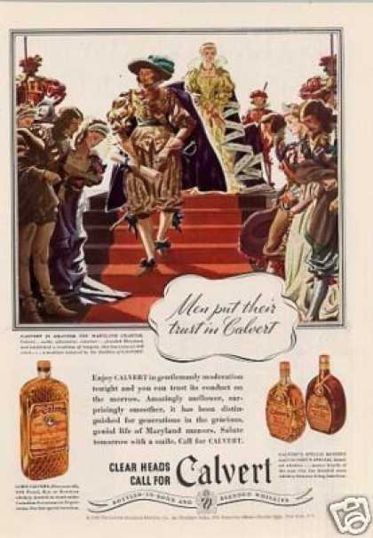 "Calvert Whiskey Ad ""Men Put Their Trust... (1935)"
