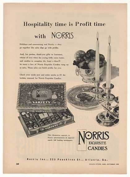 Norris Exquisite Candies Chocolate Candy Trade (1948)