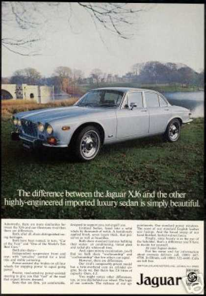 Jaguar XJ6 XJ-6 Photo Print Vintage Car (1973)