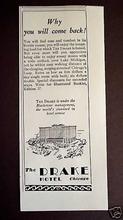 The Drake Hotel Chicago (1929)