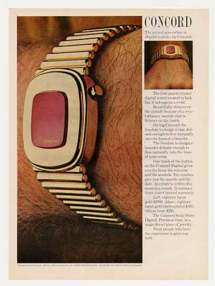 Concord Solid State Digital Watch Photo (1975)