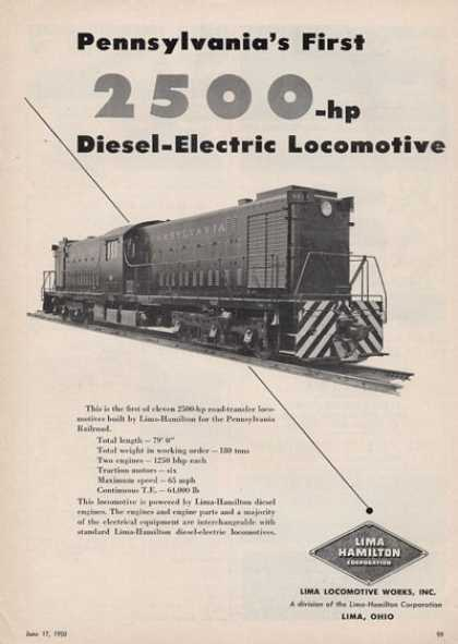 Lima Locomotive Works Pennsylvania Rr (1950)