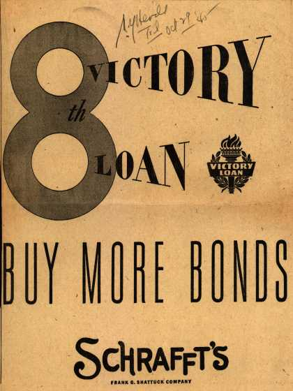 Schrafft's Victory Loan – 8th Victory Loan (1945)